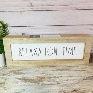 Rae Dunn RELAXATION TIME wooden sign